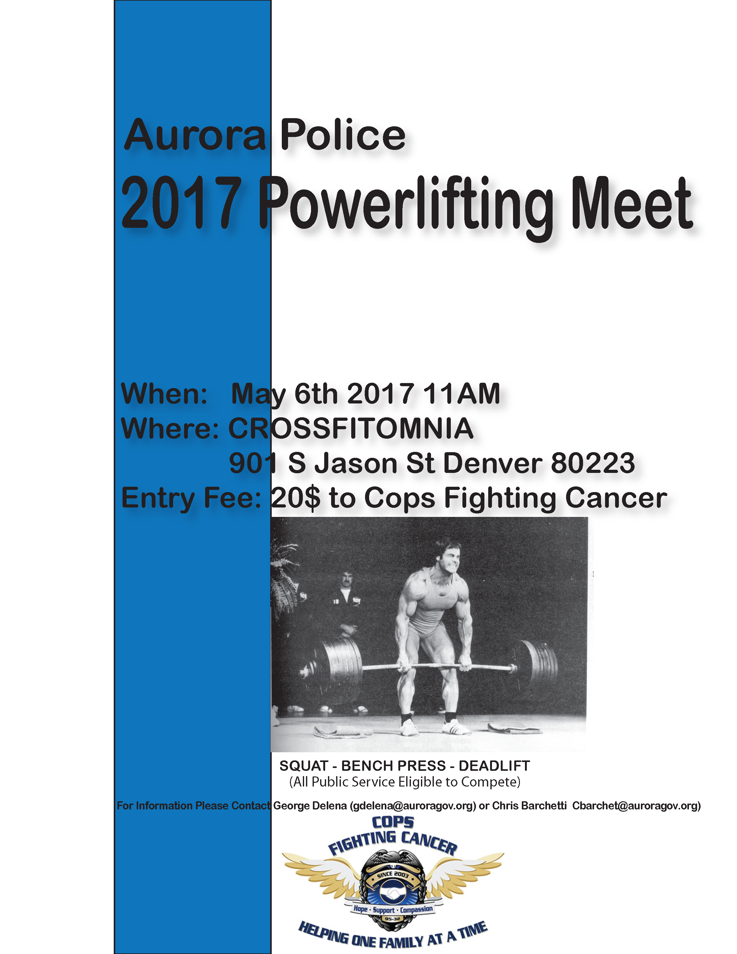 2017APDMeetFlyer Aurora Police 2017 Powerlifting Meet